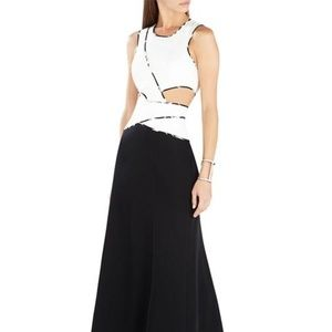 BCBG Cut out Nikkole dress, NWT 8 black and white!